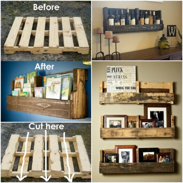 Pallet shelving | Source: Pinterest