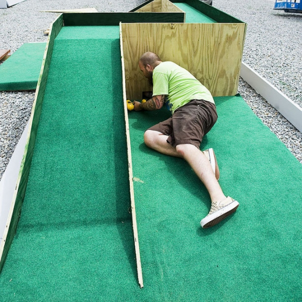 Building the mini golf course