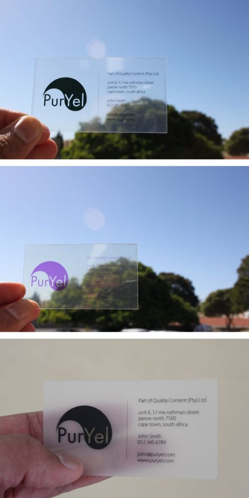 Print and Sell Transparent, Translucent and Frosted Business Cards ...