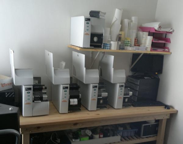Label printing setup