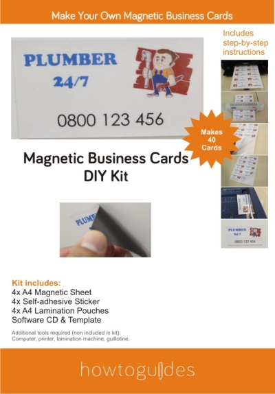 Magnetic Business Card DIY Kit cover design
