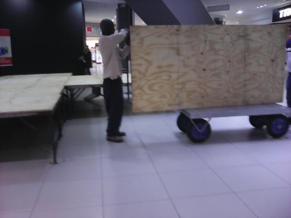 Stage being taken apart