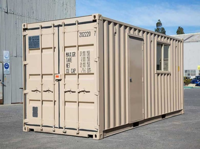 Shipping container basic office