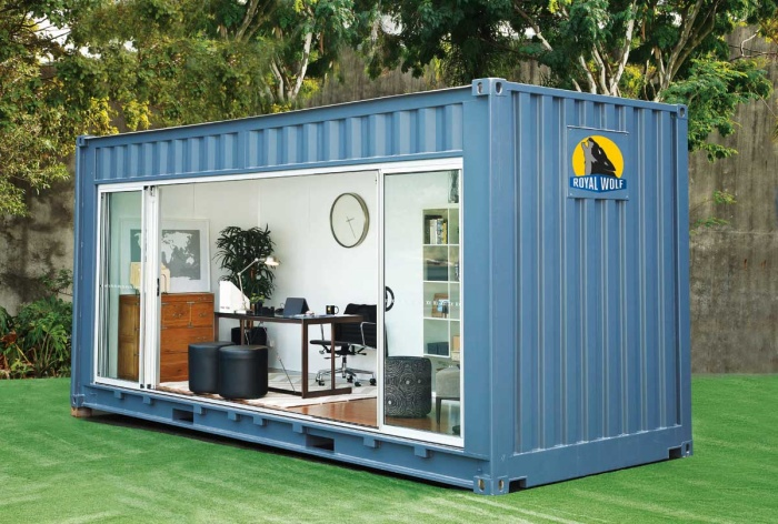 Shipping container nice office