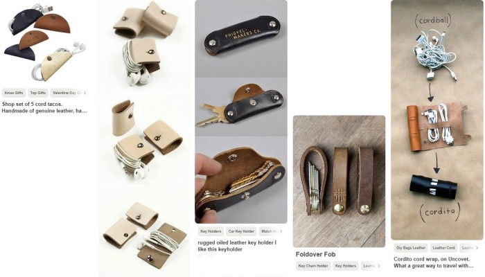 Leather tacos and other stuff (yes its just pieces of leather with press studs)