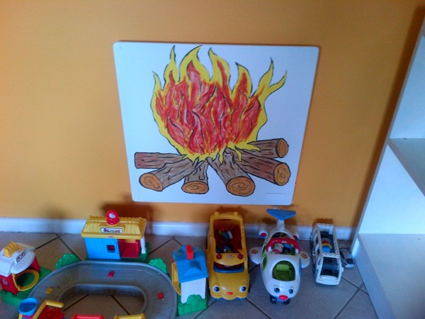 Painted panel heater - mommyinwaiting.wordpress.com
