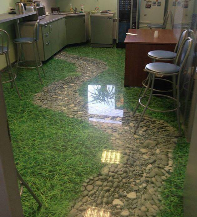 """3D"" Photo Epoxy Floor"