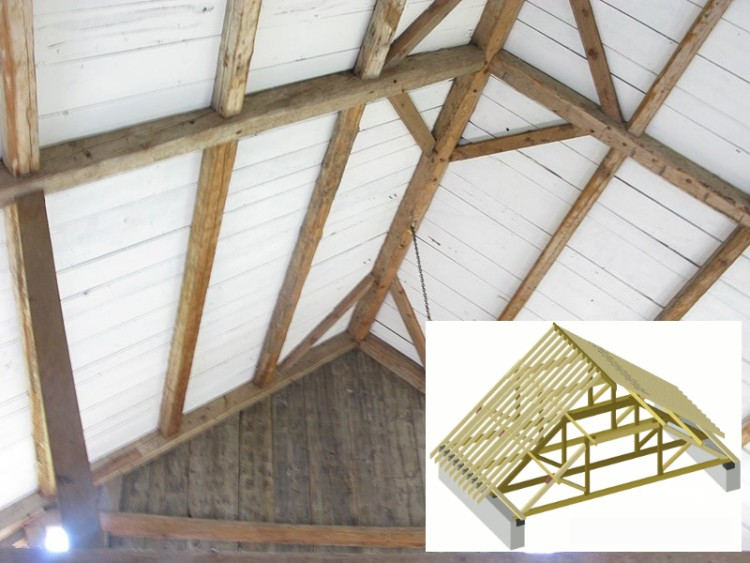 Examples of timber used in roof